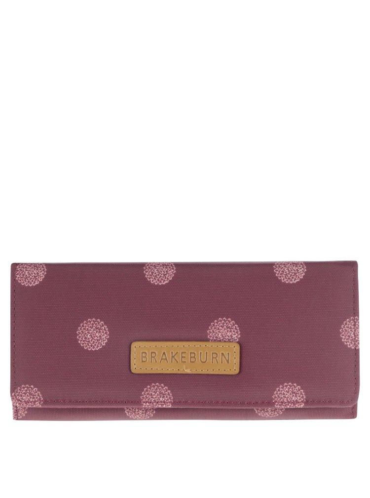 Vínová peňaženka s bielymi bodkami Brakeburn Polka