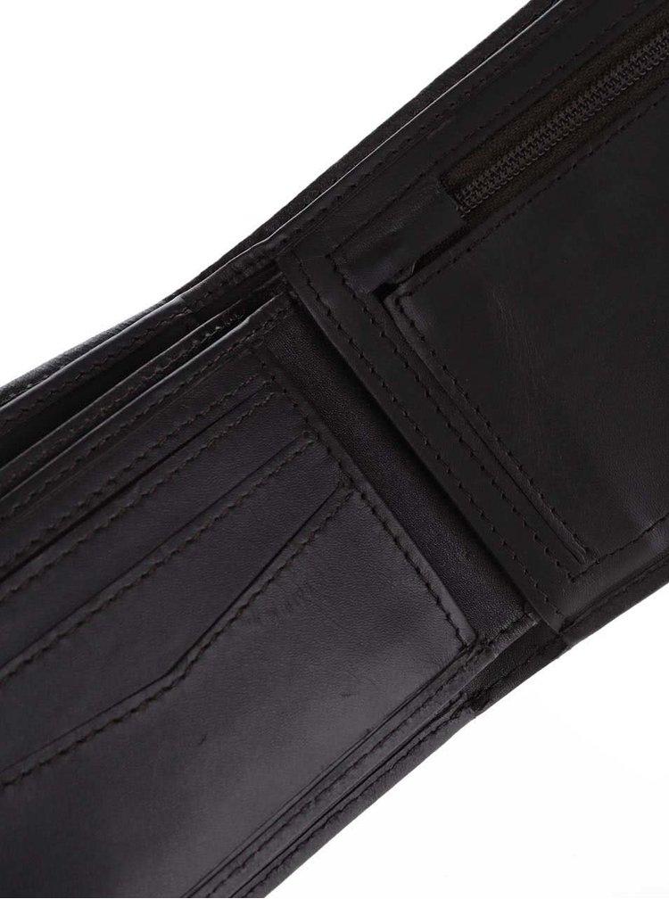 Hnedá pánska kožená peňaženka Rip Curl Clean 2 in 1