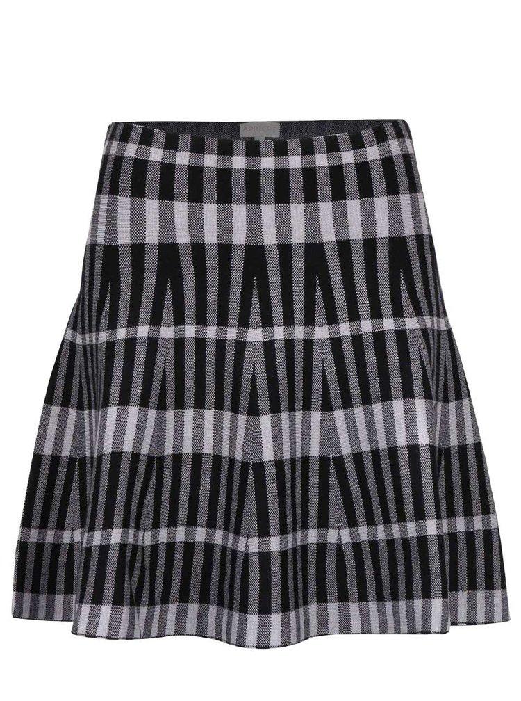Černo-šedá pruhovaná sukně Apricot