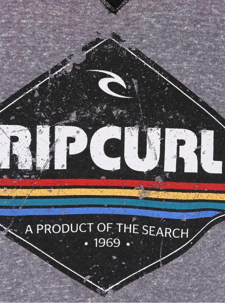 Sivá pánska melírovaná mikina s potlačou Rip Curl Diamond Crew