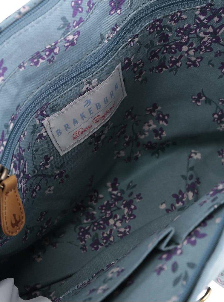 Světle modrá květovaná aktovka přes rameno Brakeburn Blossom