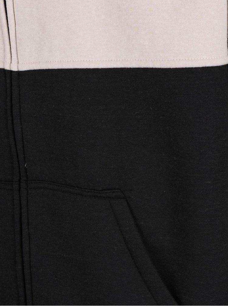 Hanorac negru & crem Rip Curl Fifty ZT pentru bărbați