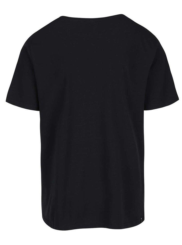 Čierne pánske tričko s potlačou Rip Curl Corp SS Tee