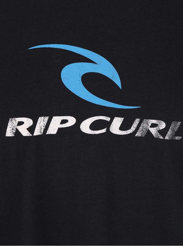 Černé pánské triko s potiskem Rip Curl Corp SS Tee