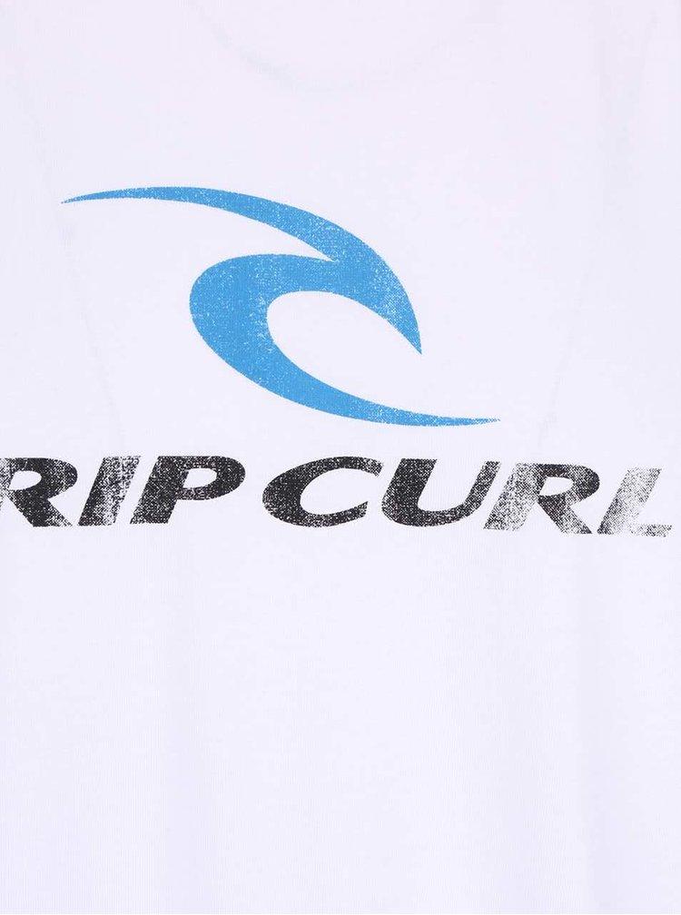 Bílé pánské triko s potiskem Rip Curl Corp SS Tee