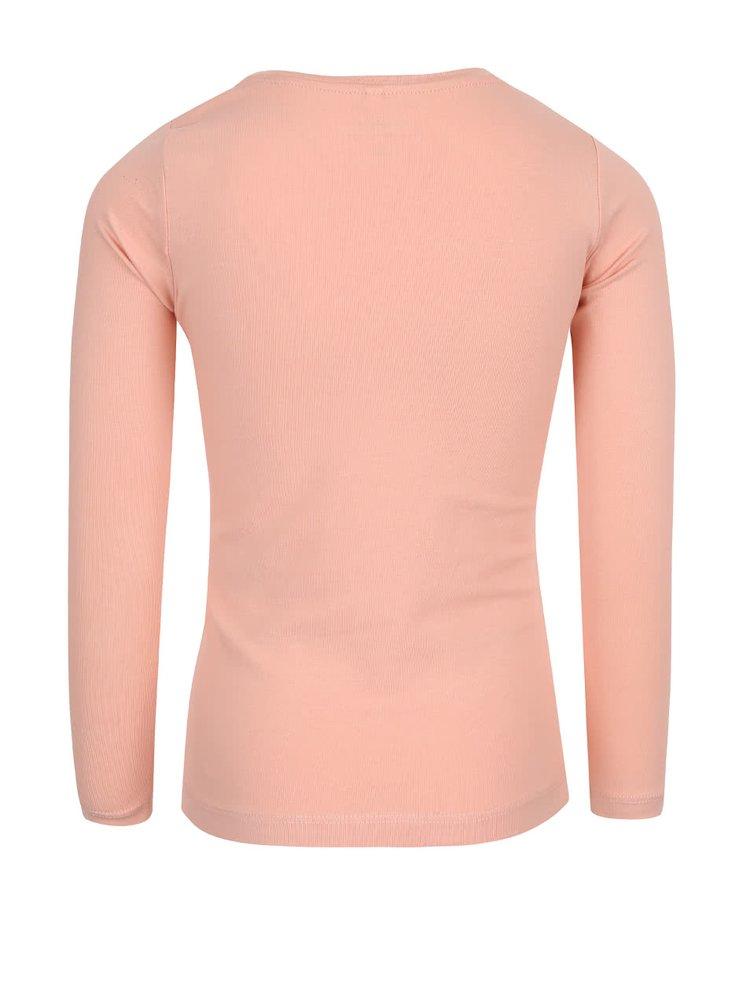 Marhuľové dievčenské tričko s dlhým rukávom name it Lullu