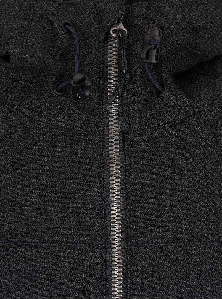 Tmavosivá pánska bunda s kapucňou Rip Curl One Shot Anti