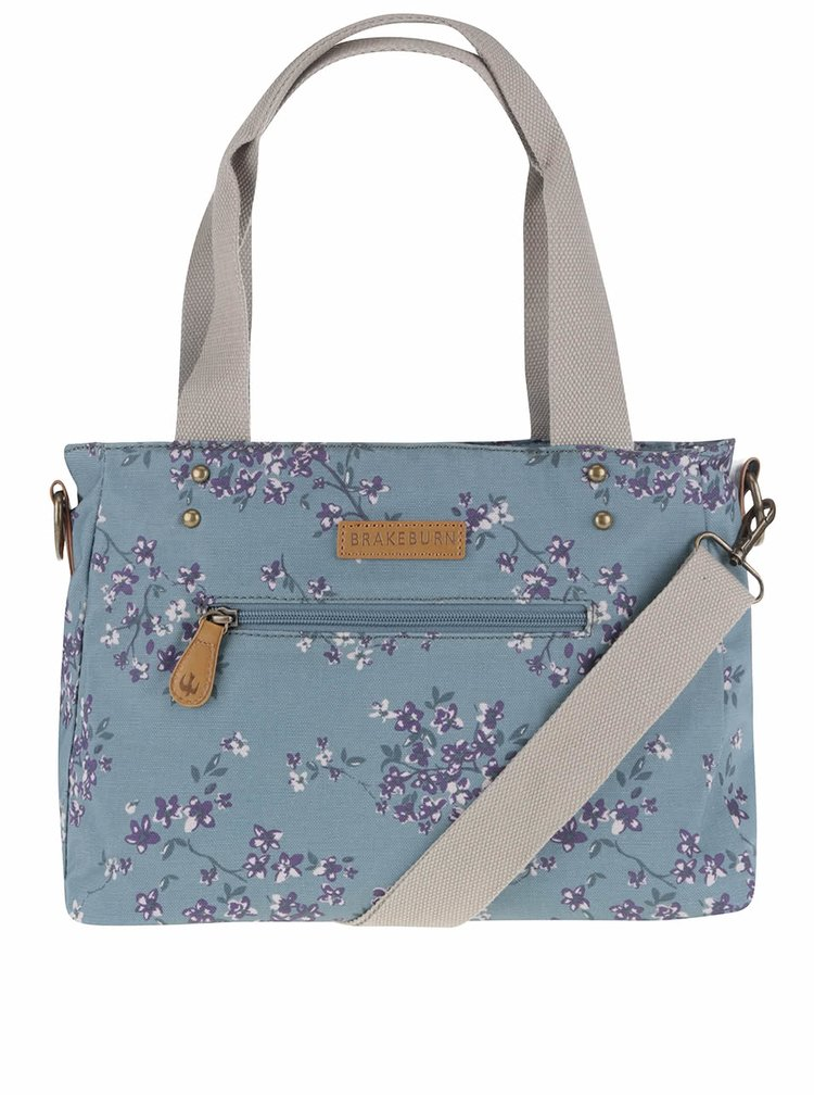 Světle modrá květovaná taška Brakeburn Blossom