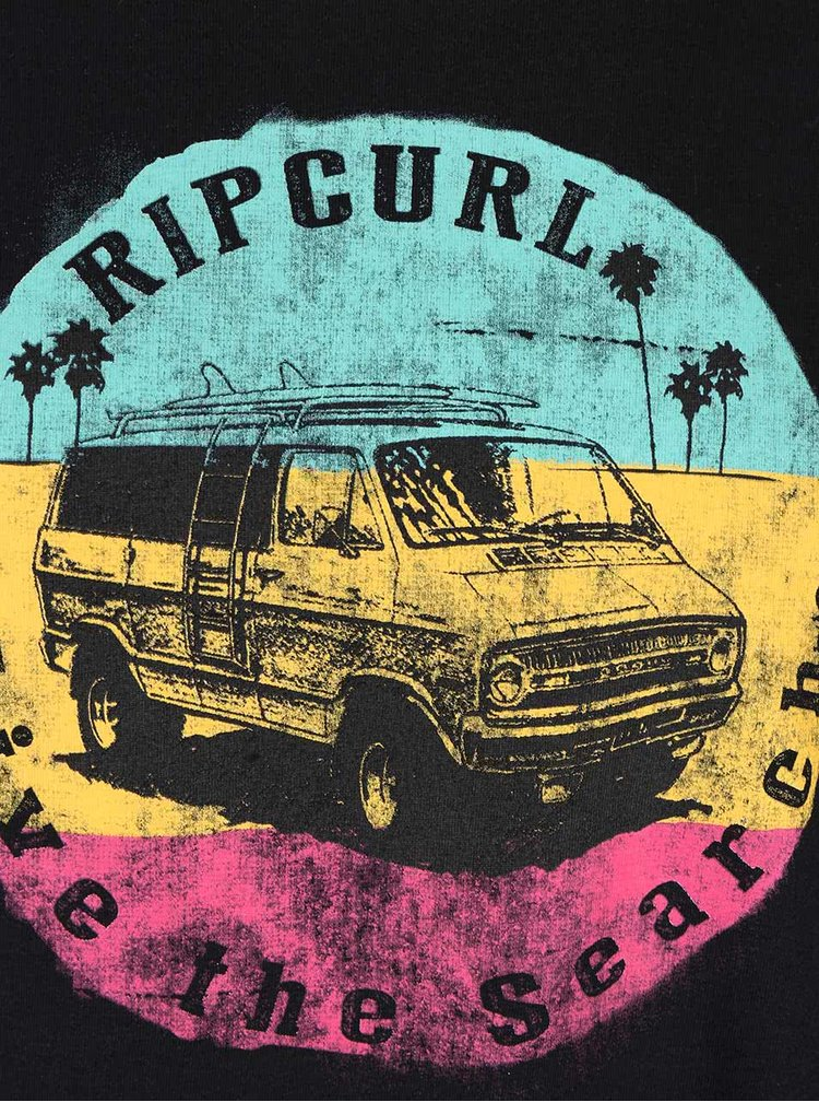 Tricou negru Rip Curl Van SS Tee din bumbac pentru bărbați