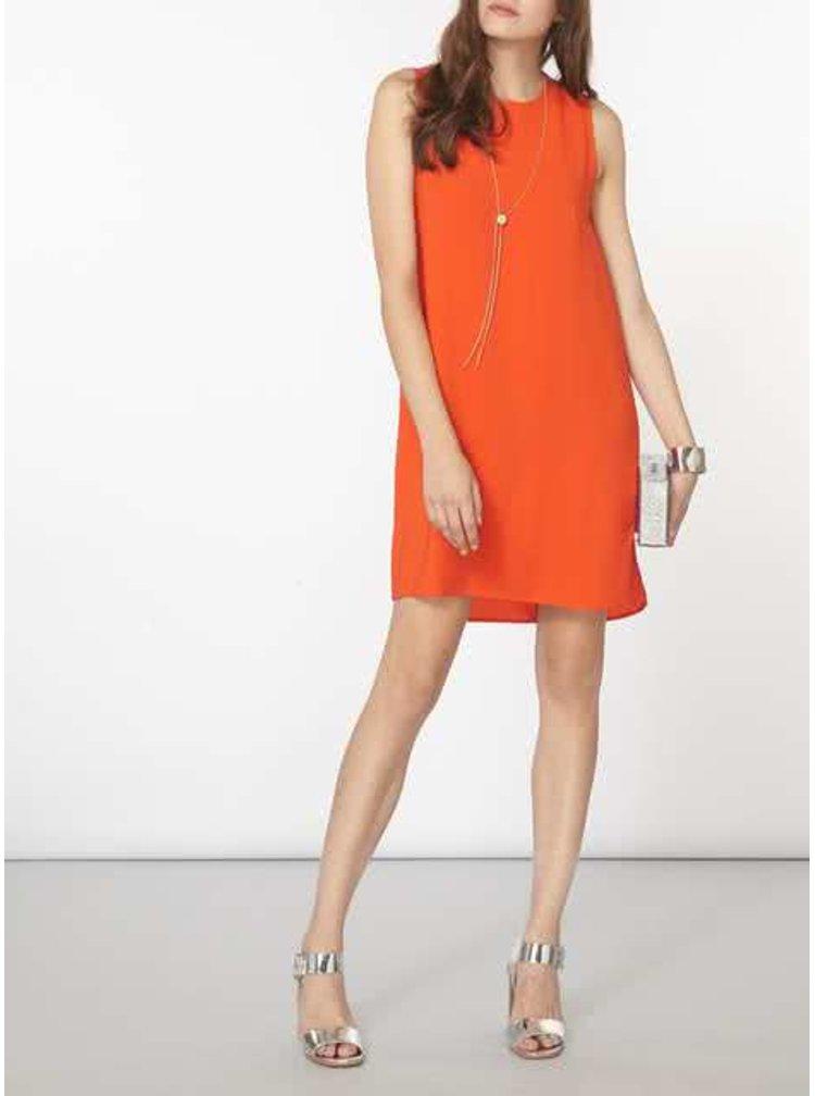 Oranžové šaty so zipsami na bokoch Dorothy Perkins