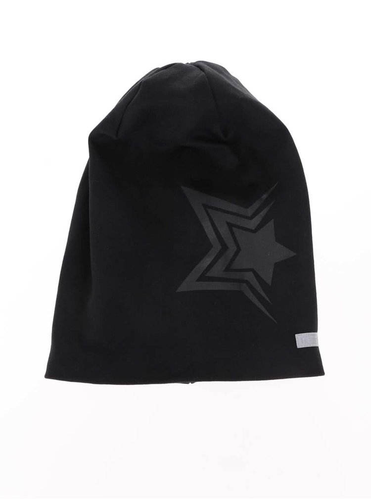 Černá klučičí čepice s potiskem hvězdy name it Moppy