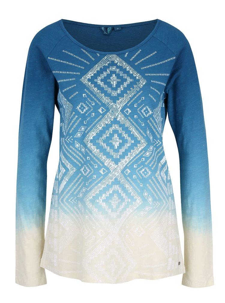 Krémovo-modré dámské tričko s potiskem Rip Curl Mariflores