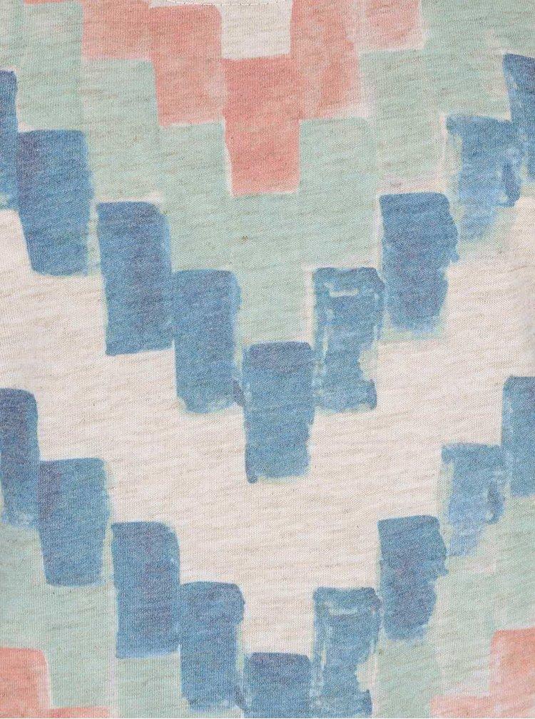 Krémové dámske melírované tričko s potlačou Rip Curl Pucon
