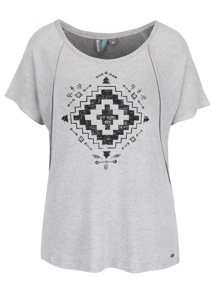 Světle šedé dámské volnější tričko Rip Curl Alegre