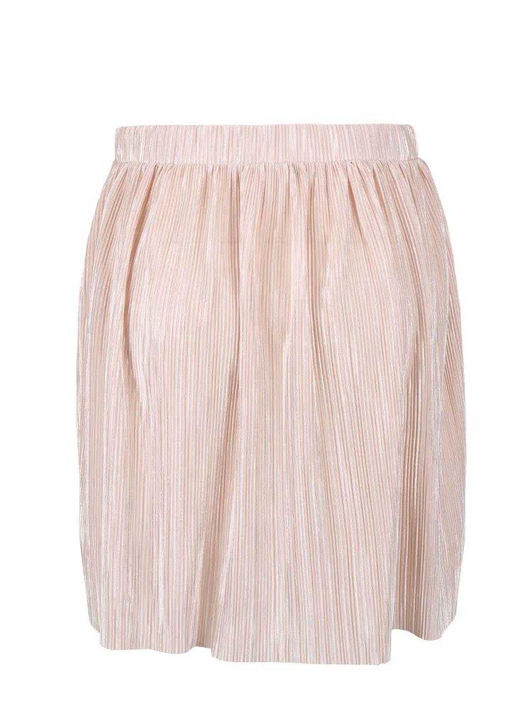 Telová plisovaná sukňa VILA Claudie