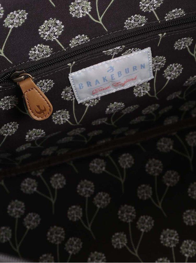 Tmavě hnědá květovaná taška Brakeburn Blossom Overnight