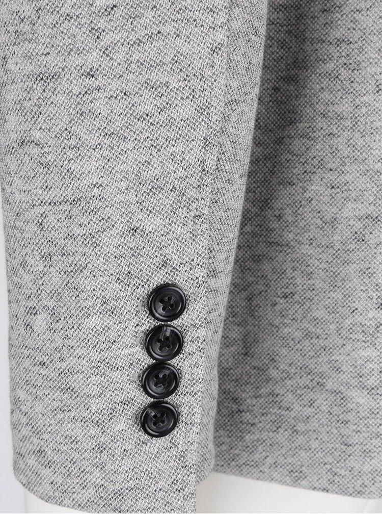 Světle šedý žíhaný blejzr Jack & Jones Loyd