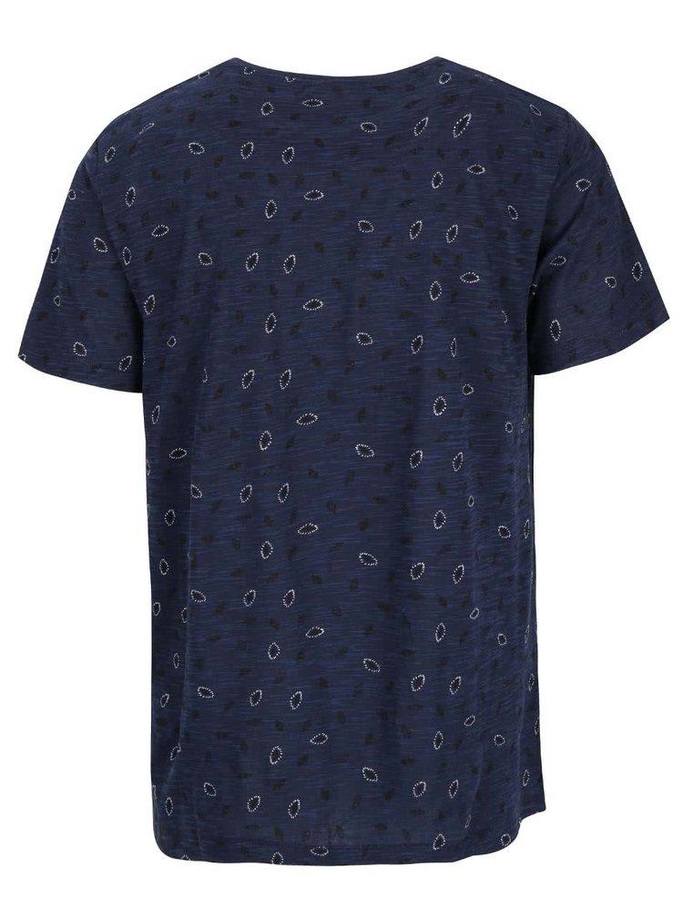 Tmavomodré pánske vzorované slim fit tričko Rip Curl Allo SS Tee