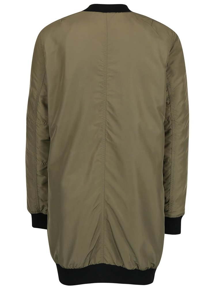 Jachetă bomber verde VERO MODA Dicte lungă