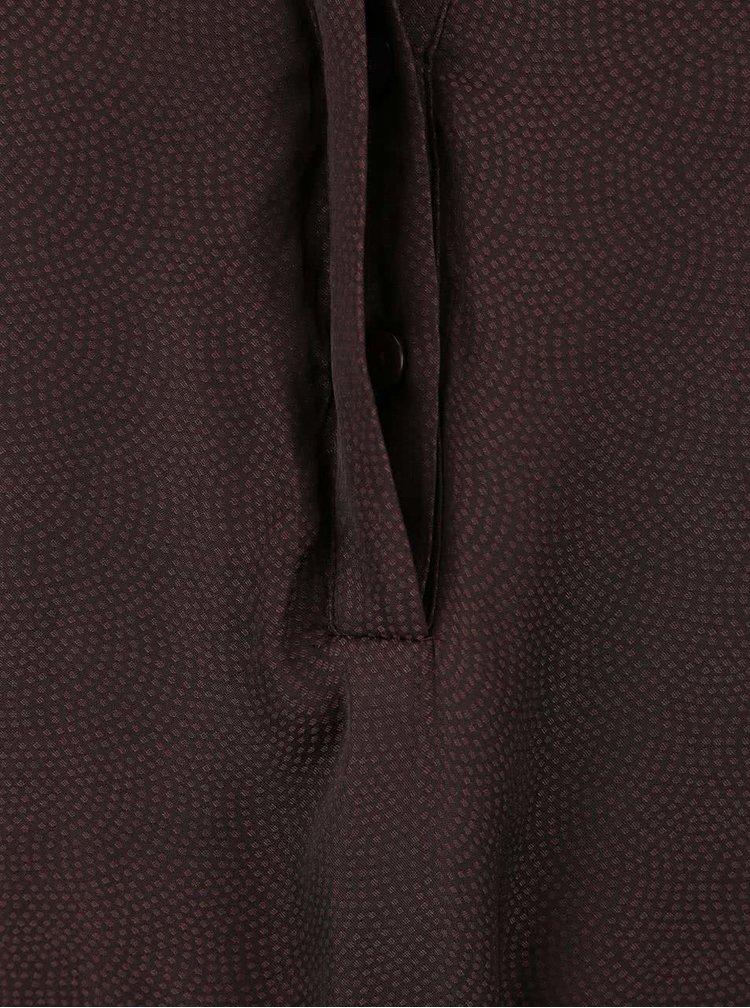 Hnědá tunika s krajkovým detailem a dlouhým rukávem VILA Elia