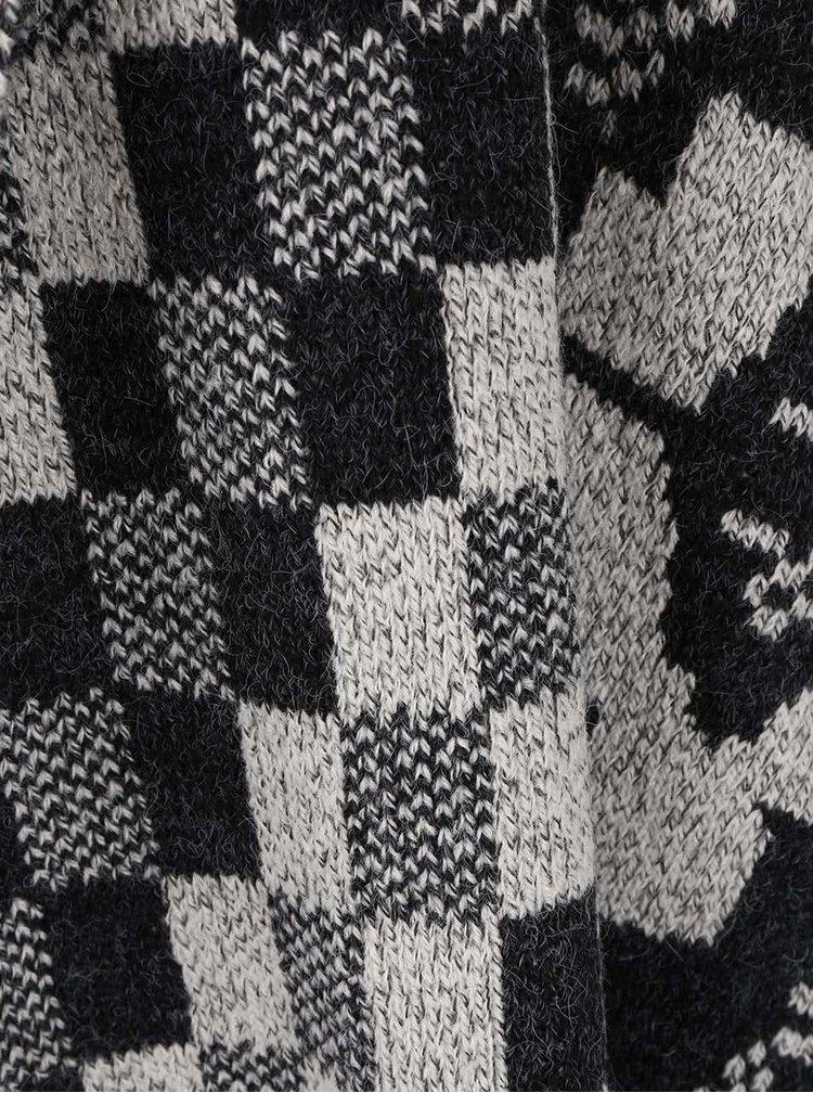 Sivo-čierny dámsky vzorovaný kardigán Rip Curl Empire
