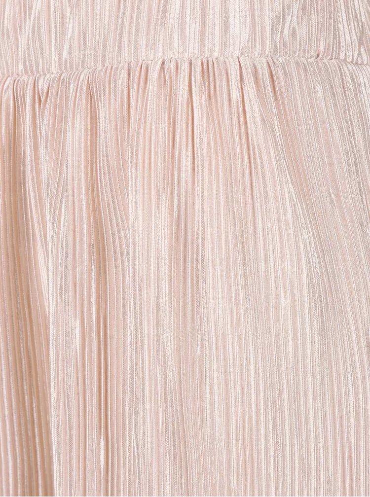 Fustă roz cu pliuri VILA Claudie