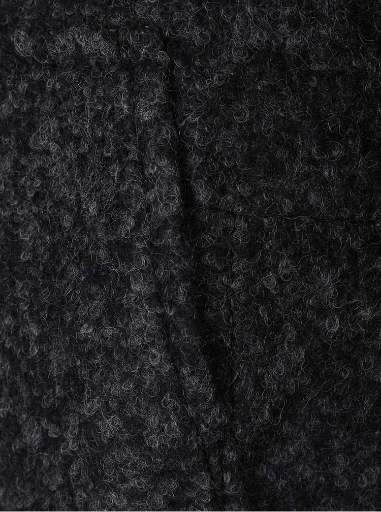 Tmavě šedý kabát s kapsami VERO MODA Antonia