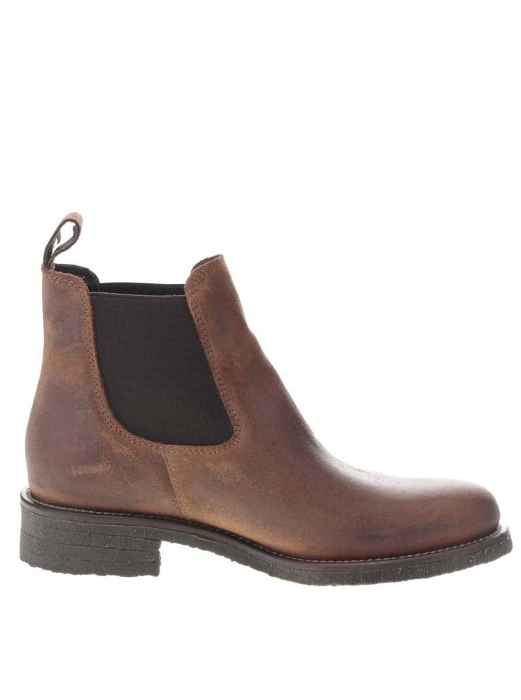 Hnedé dámske členkové topánky z brúsenej kože U.S. Polo Assn. Faris