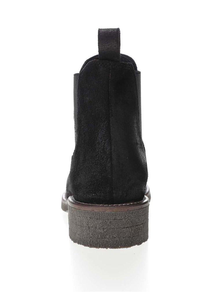 Cizme Chelsea negre U.S. Polo Assn. Faris din piele pentru femei