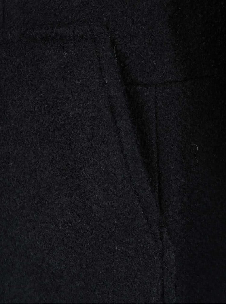 Čierny kabát s vreckami VERO MODA Antonia