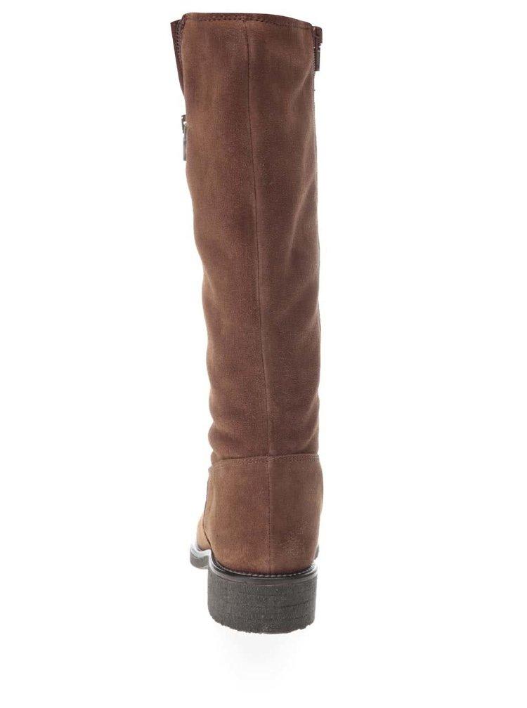 Hnedé semišové kozačky U.S. Polo Assn. Fergie