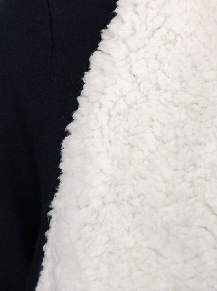 Tmavě modrý kadrigan s kožíškem VERO MODA Ilsa