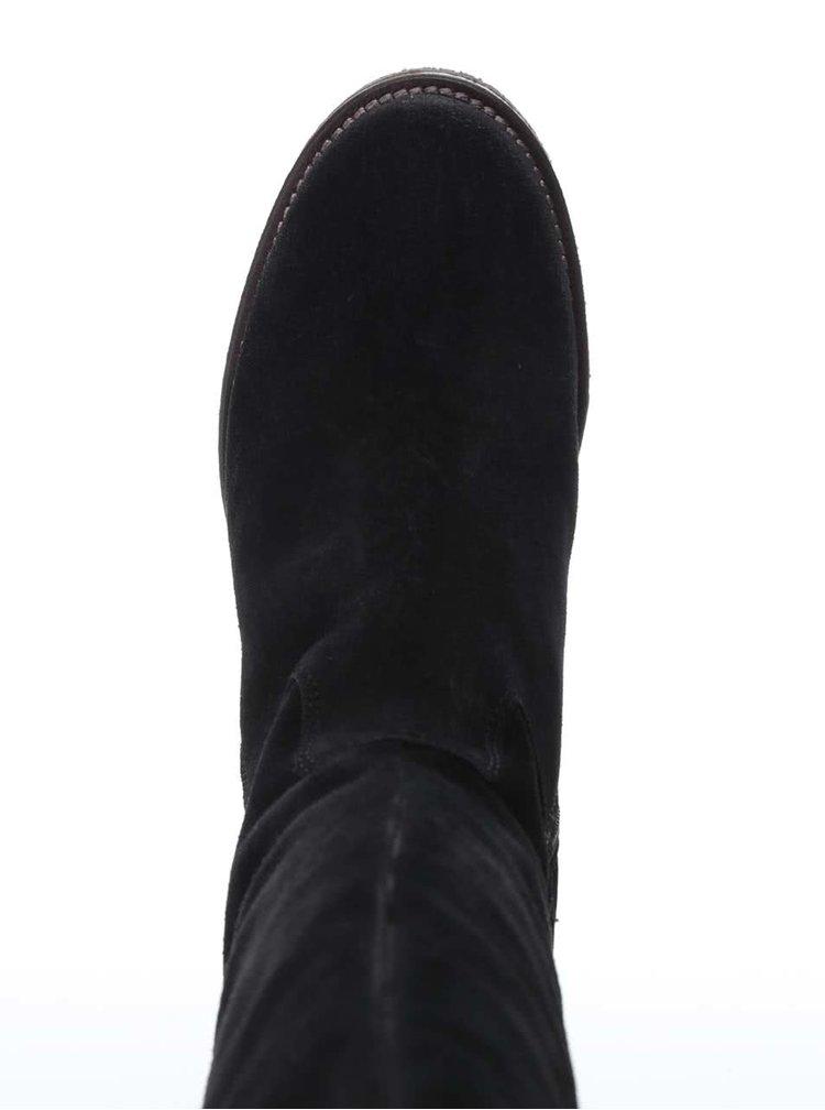 Černé semišové kozačky U.S. Polo Assn. Fergie