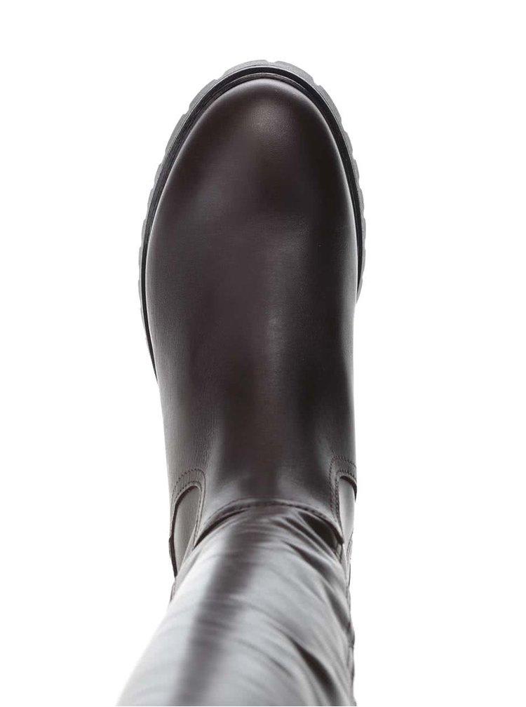 Cizme inalte maro inchis U.S. Polo Assn. Phillipa din piele pentru femei