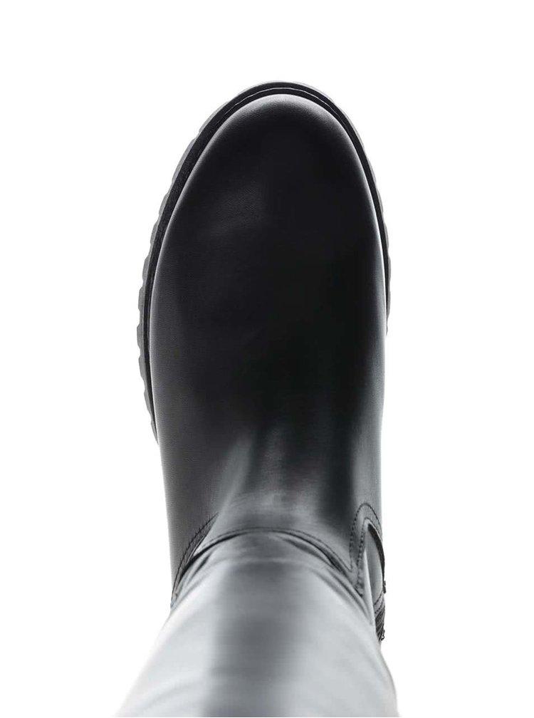 Cizme inalte negre U.S. Polo Assn. Phillipa din piele pentru femei