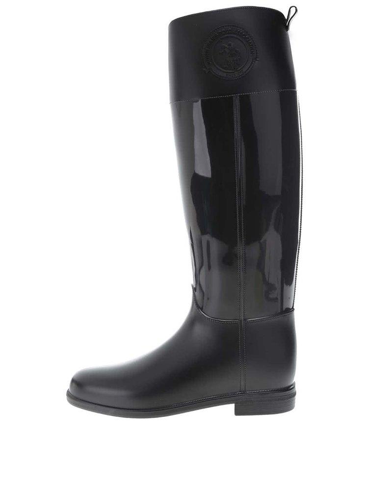 Cizme înalte negre U.S. Polo Assn. Fiordalis pentru femei