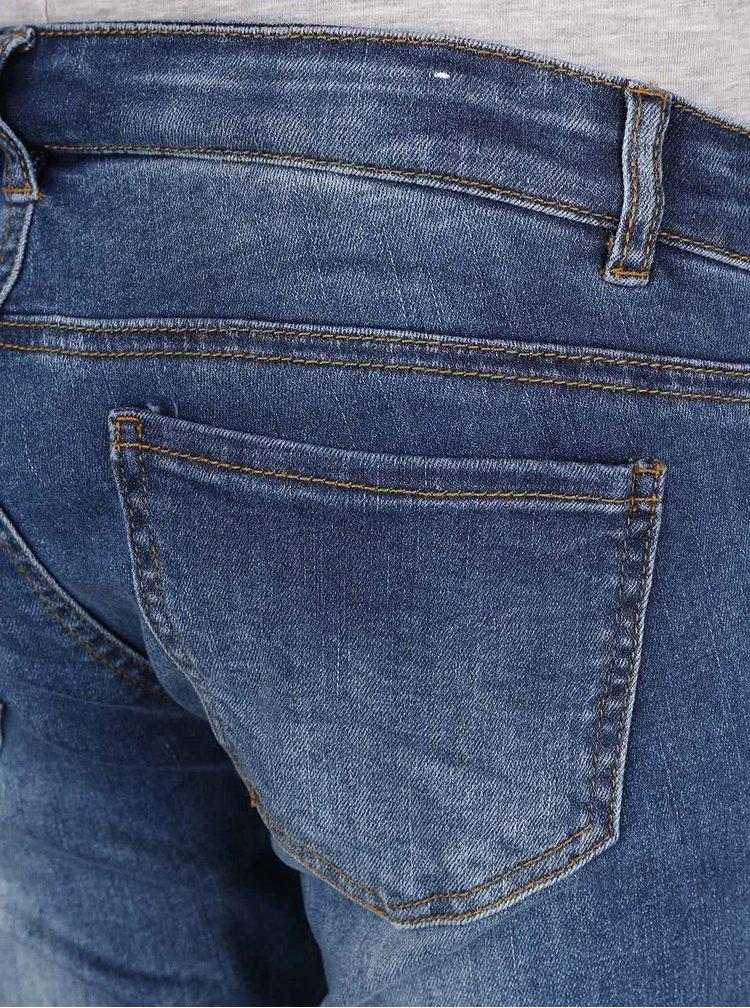Modré těhotenské slim džíny Mama.licious Nilo