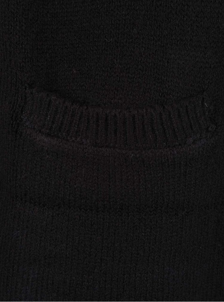 Cardigan negru TALLY WEiJL cu cordon