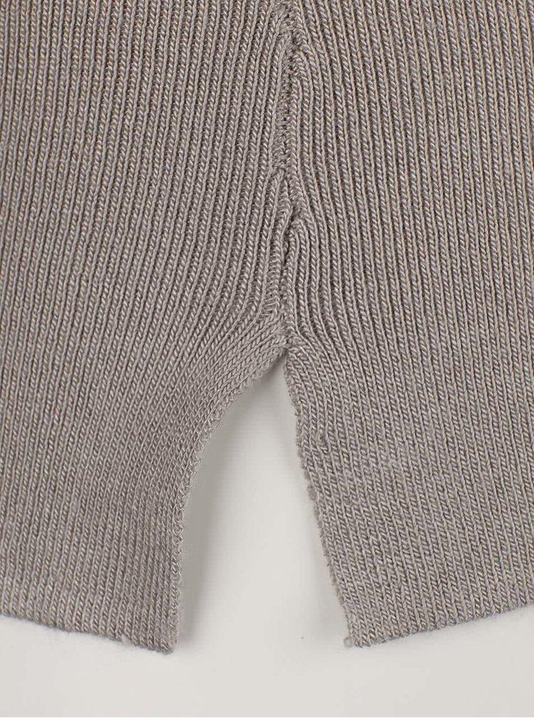 Svetlosivý ľahký sveter s rozparkami VILA Helena