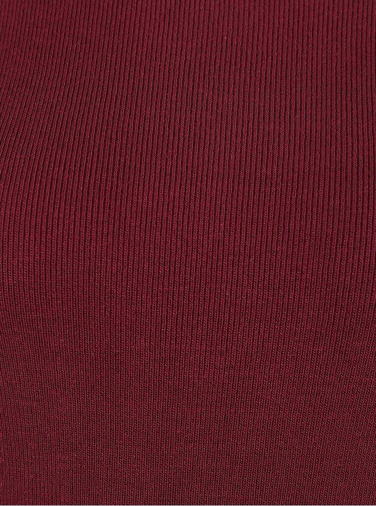 Vínový lehký svetr s rozparky VILA Helena