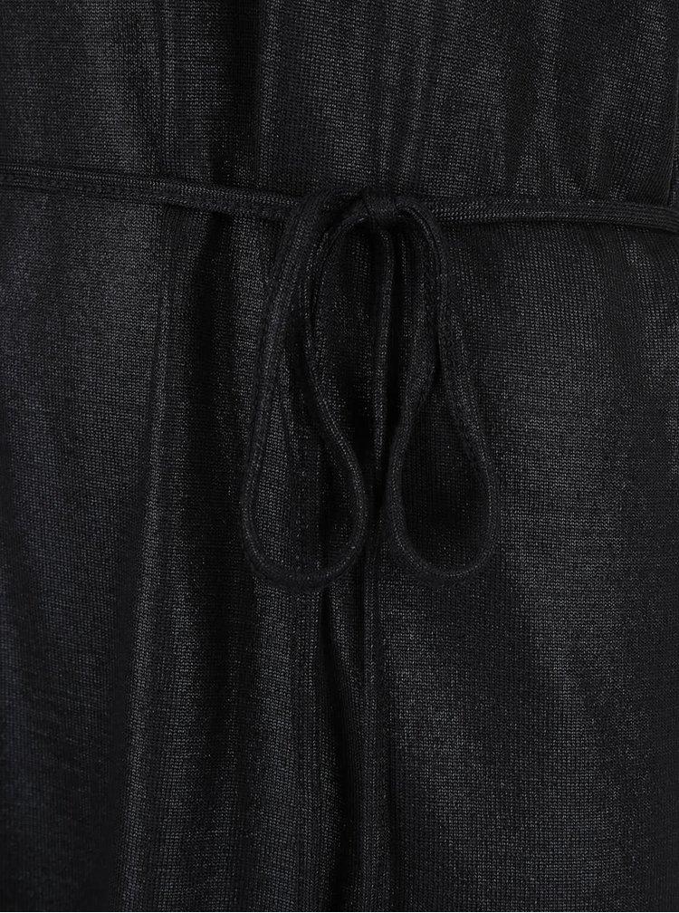 Rochie neagra cu aspect lucios VILA Leika