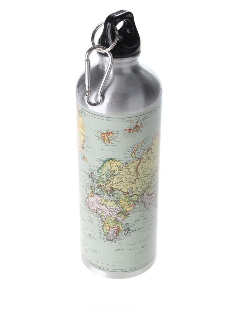 Láhev na vodu ve stříbrno-zelené barvě  Gift Republic