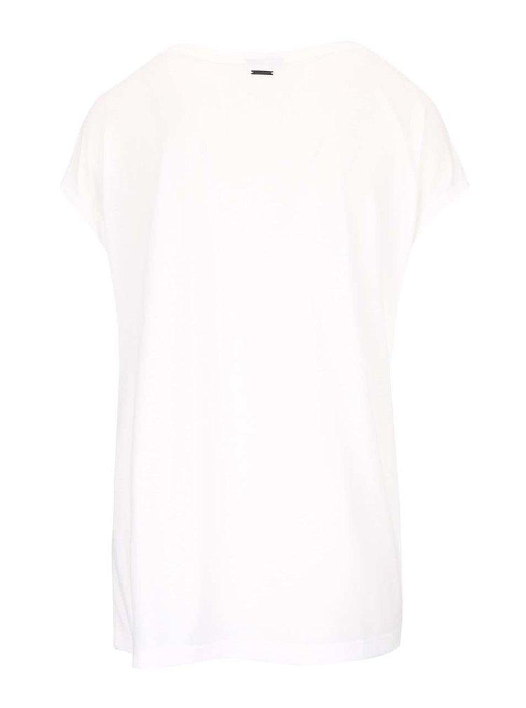 Krémové tričko s potiskem VERO MODA Nanna