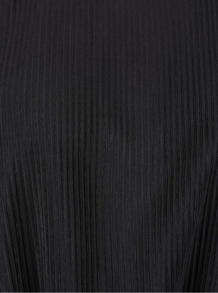 Čierne plisované šaty VILA Plissa
