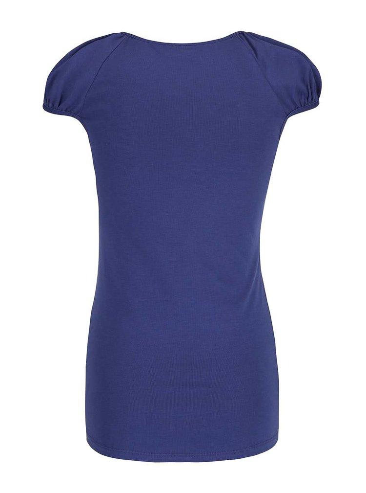 Tmavě modré tričko s krajkovým výstřihem VERO MODA Inge