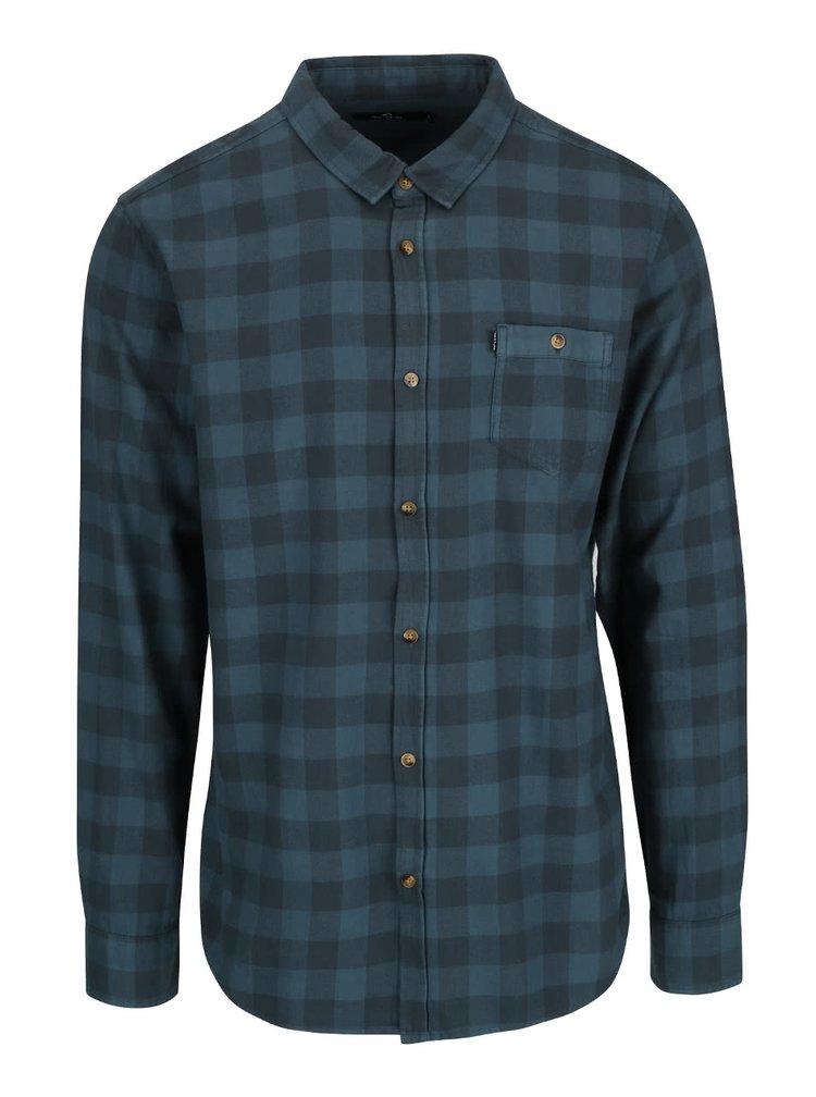 Modrá kostkovaná pánská košile  Rip Curl Check IT LS