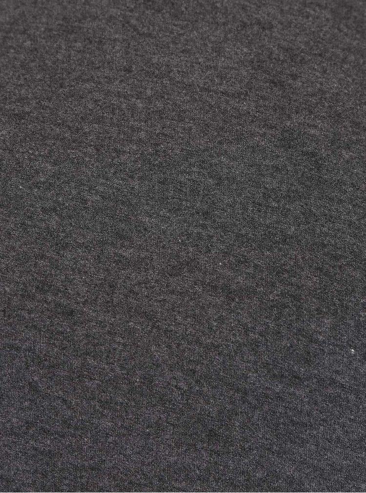Sivý melírovaný top s pruhovaním na chrbte VERO MODA Susie