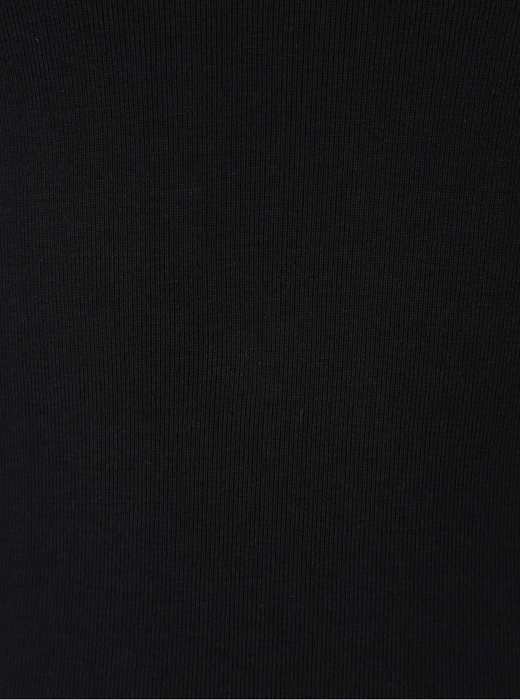 Černé basic tričko s dlouhým rukávem TALLY WEiJL