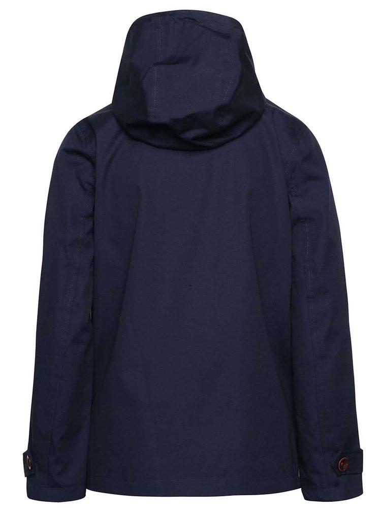 Tmavomodrá dámska nepremokavá bunda s kapucňou Tom Joule Coast
