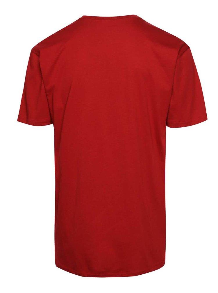 Červené pánské triko s potiskem Vans Stenciled II